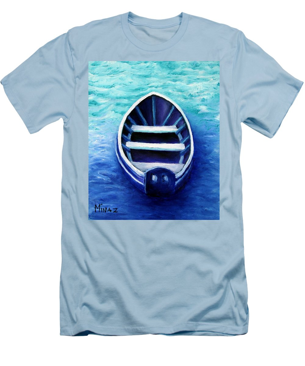 Boat Men's T-Shirt (Athletic Fit) featuring the painting Zen Boat by Minaz Jantz