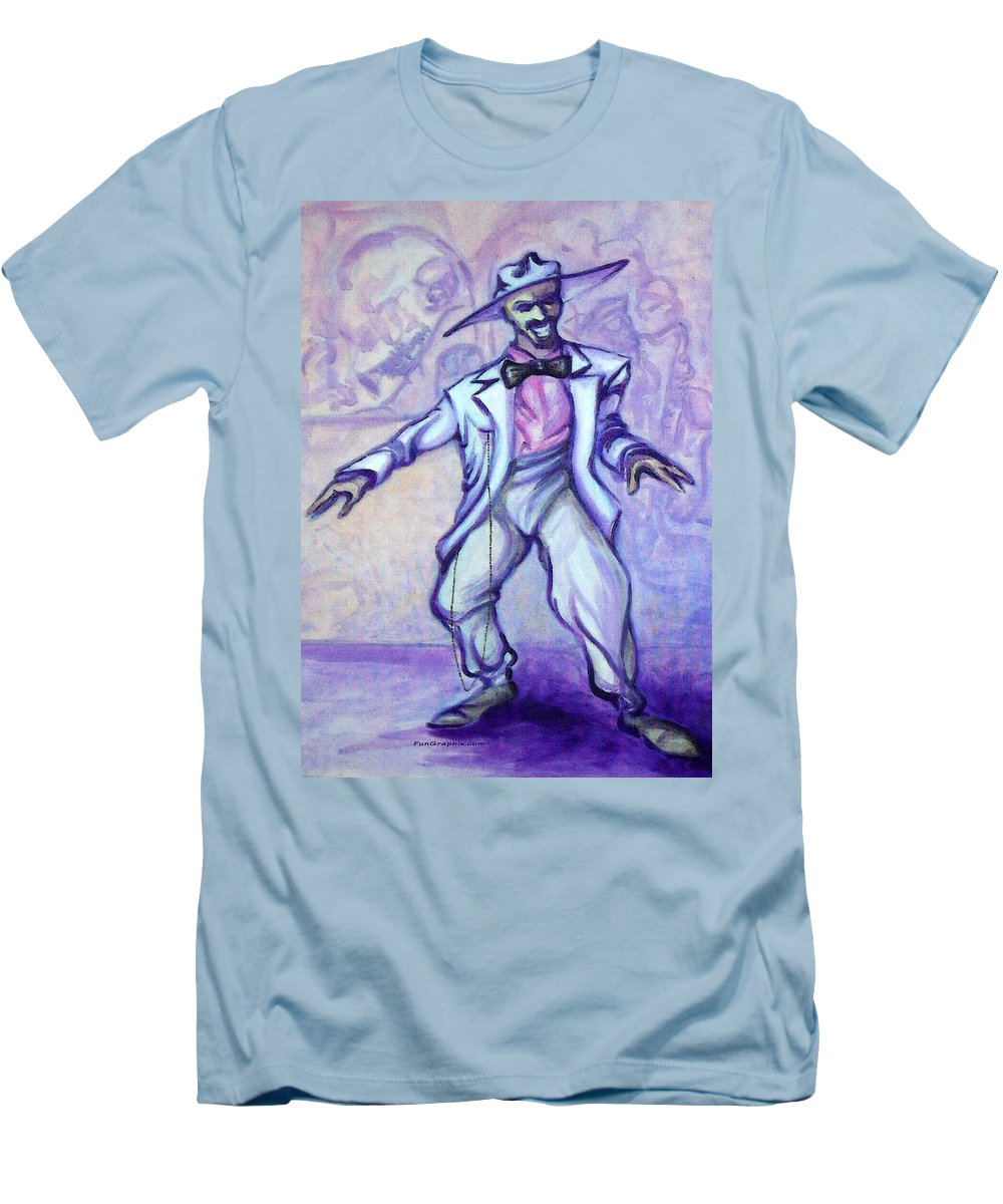 Zoot Suit Men's T-Shirt (Athletic Fit) featuring the painting Zoot Suit by Kevin Middleton