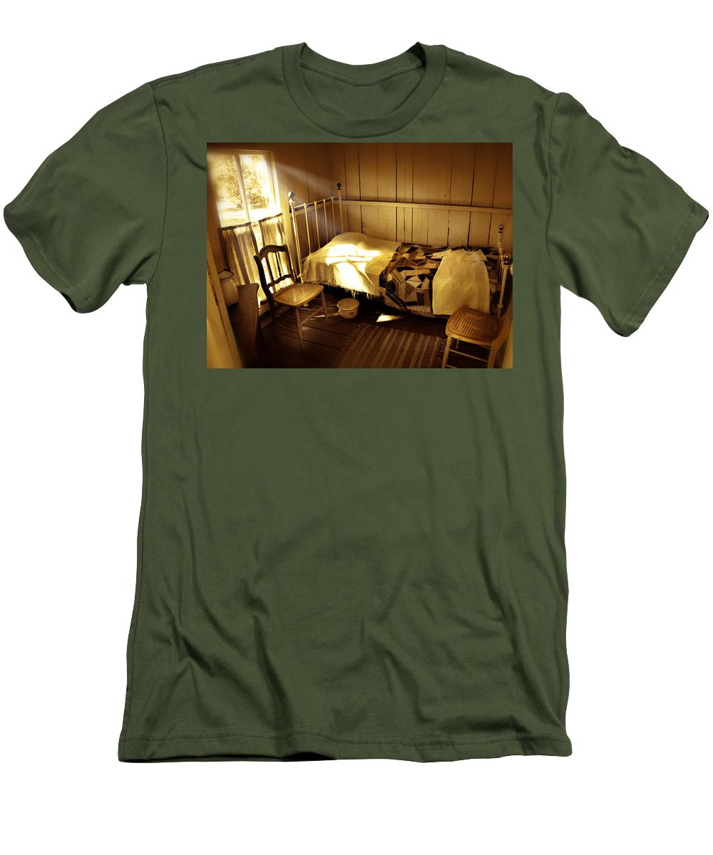Bedroom Men's T-Shirt (Athletic Fit) featuring the photograph Dreams by Mal Bray