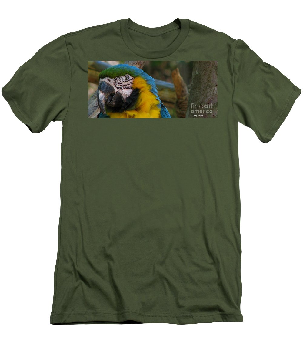 Patzer Men's T-Shirt (Athletic Fit) featuring the photograph Blue And Gold by Greg Patzer