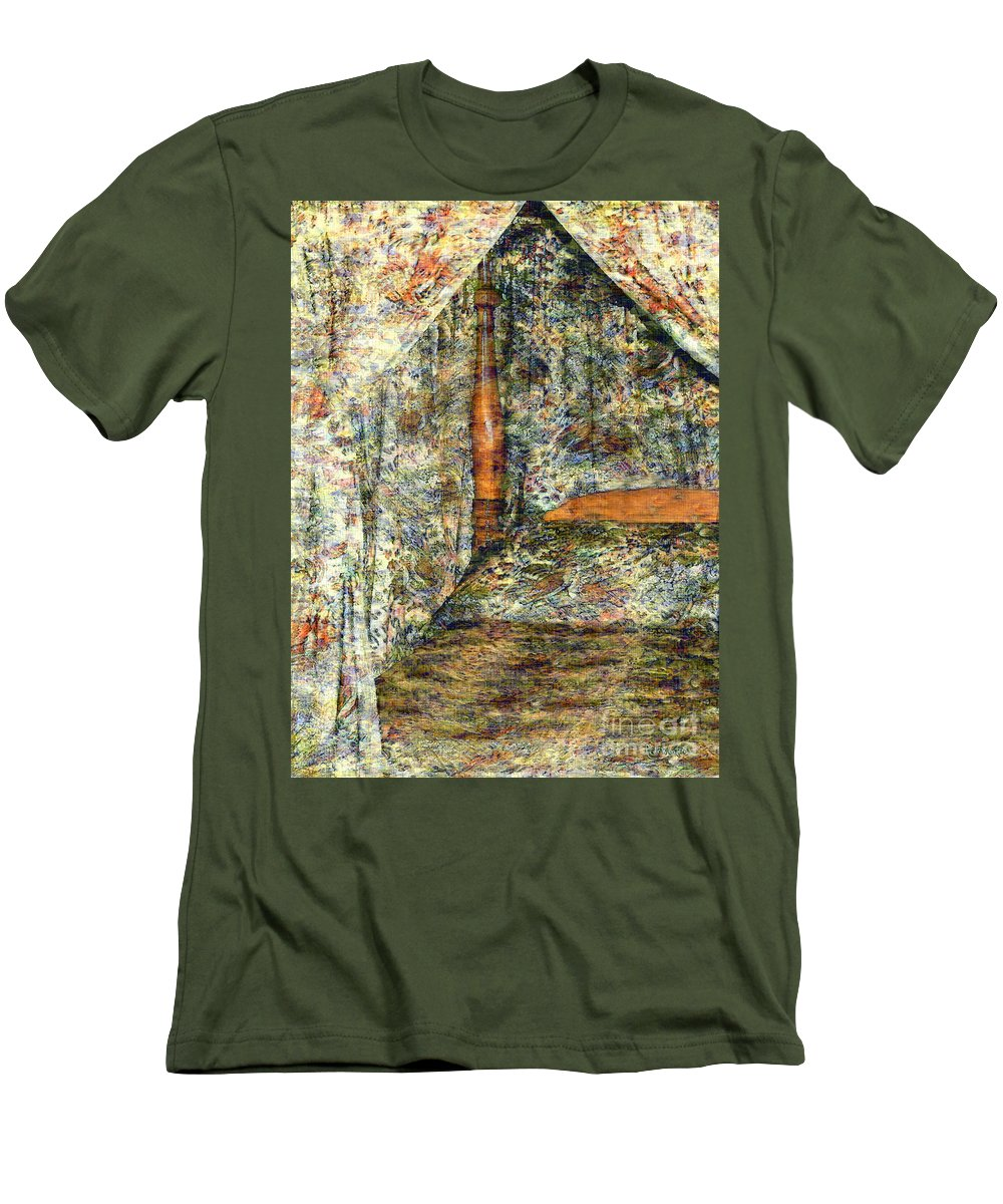 Antiques Men's T-Shirt (Athletic Fit) featuring the painting A Profusion Of Chintz by RC DeWinter