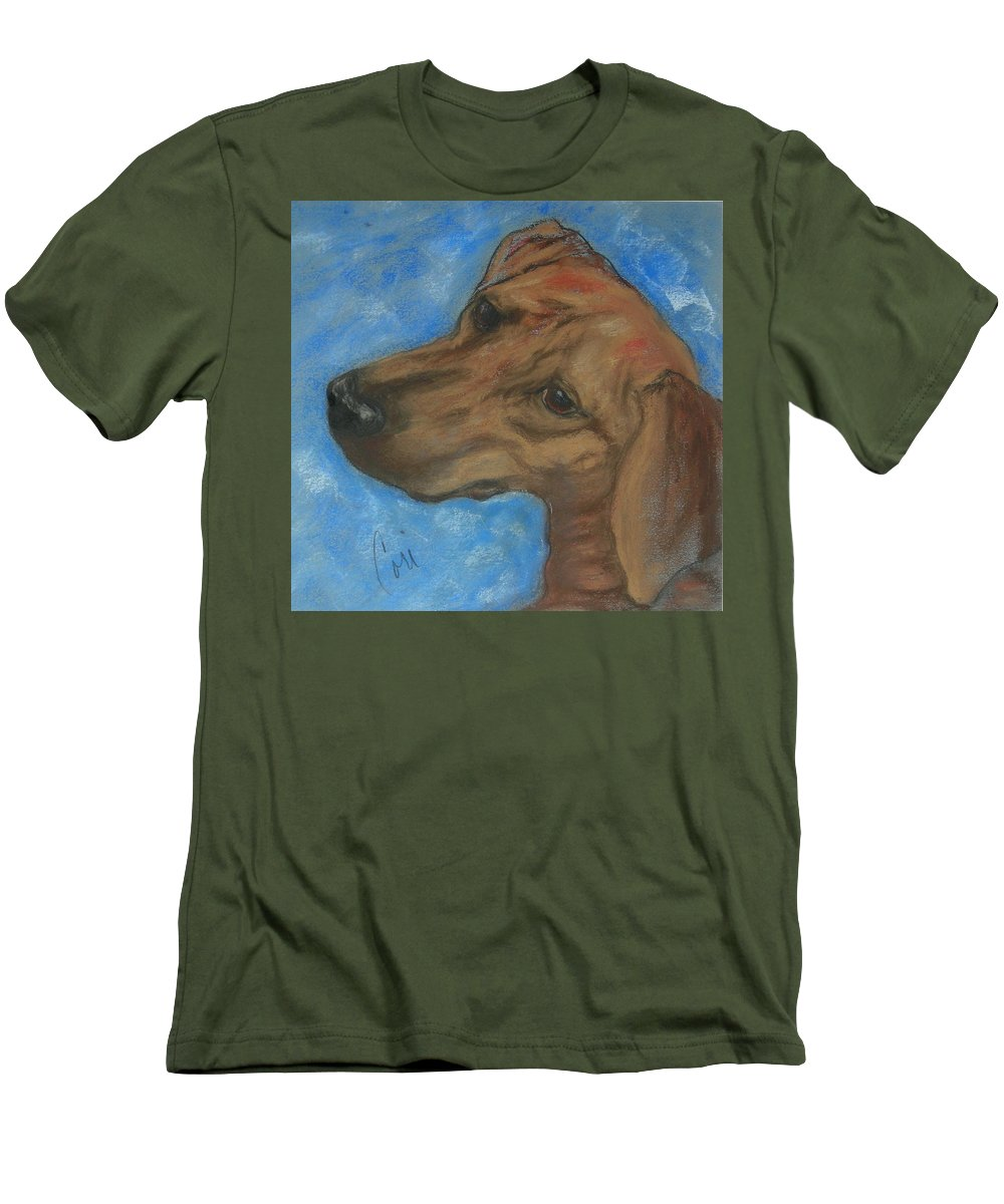 Pastel Men's T-Shirt (Athletic Fit) featuring the drawing A Twist Of Might by Cori Solomon