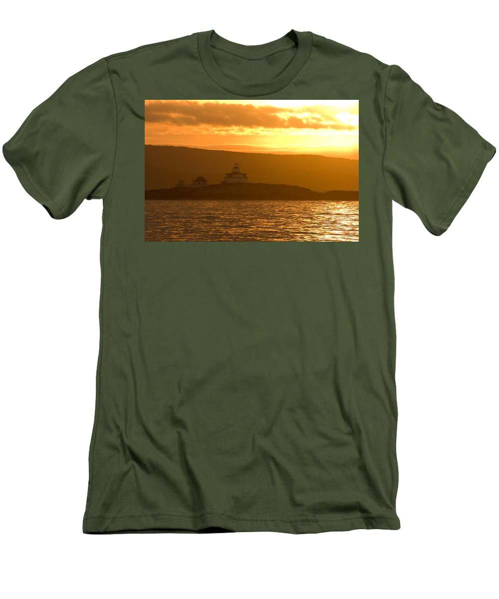 Acadia National Park Men's T-Shirt (Athletic Fit) featuring the photograph Acadia Lighthouse by Sebastian Musial