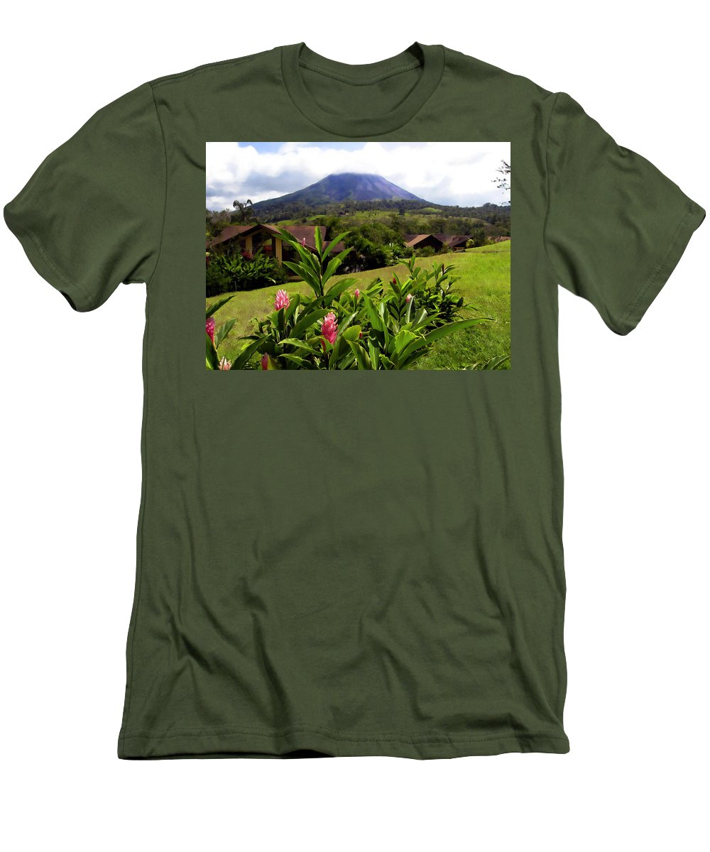 Tropical Men's T-Shirt (Athletic Fit) featuring the photograph Arenal Costa Rica by Kurt Van Wagner