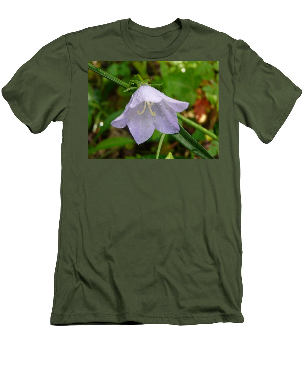 Flower Men's T-Shirt (Athletic Fit) featuring the photograph Blue Bell Flower by Valerie Ornstein