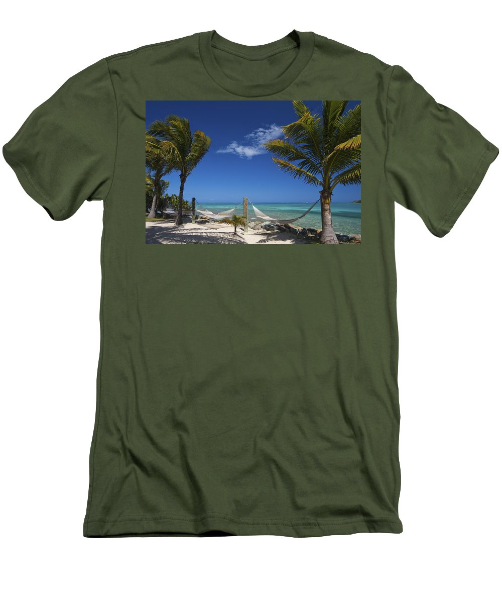 3scape Men's T-Shirt (Athletic Fit) featuring the photograph Breezy Island Life by Adam Romanowicz