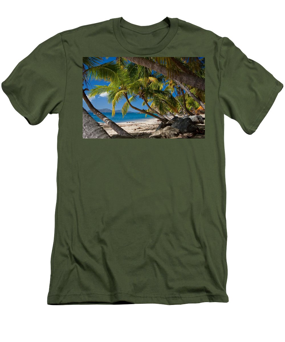 3scape Men's T-Shirt (Athletic Fit) featuring the photograph Cooper Island by Adam Romanowicz