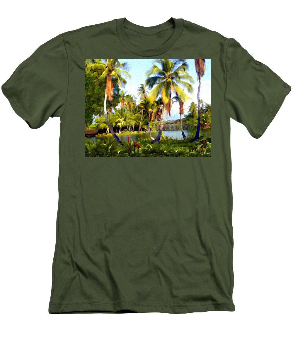 Hawaii Men's T-Shirt (Athletic Fit) featuring the photograph Mauna Lani Fish Ponds by Kurt Van Wagner