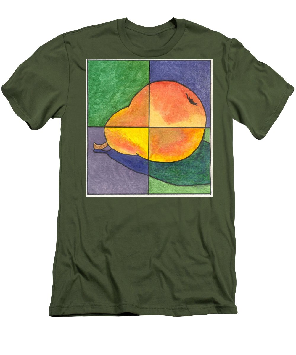 Pear Men's T-Shirt (Athletic Fit) featuring the painting Pear II by Micah Guenther