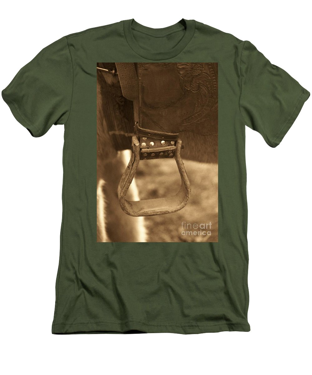 Horse Men's T-Shirt (Athletic Fit) featuring the photograph Ride On by Brandi Maher