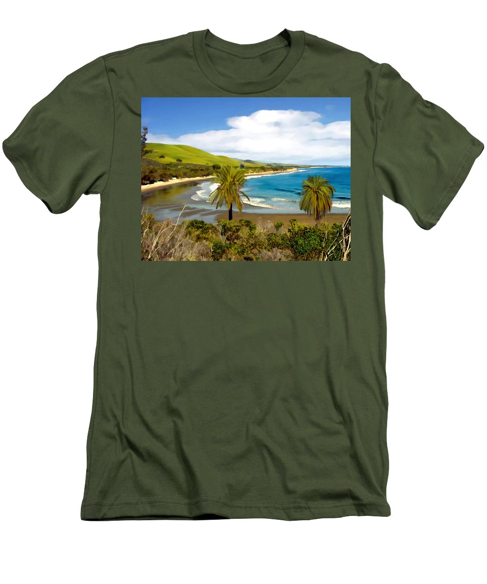 Ocean Men's T-Shirt (Athletic Fit) featuring the photograph Rufugio by Kurt Van Wagner