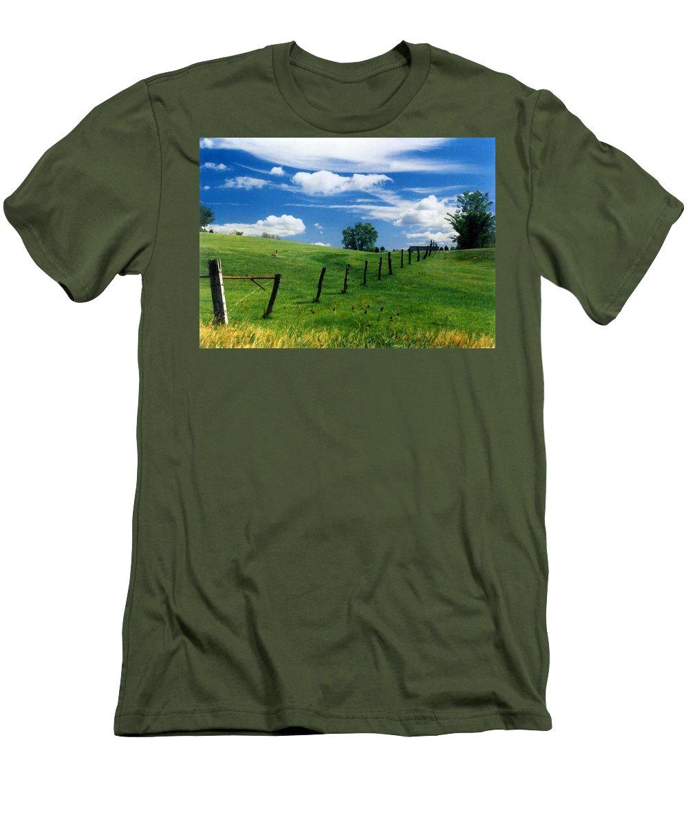 Summer Landscape Men's T-Shirt (Athletic Fit) featuring the photograph Summer Landscape by Steve Karol