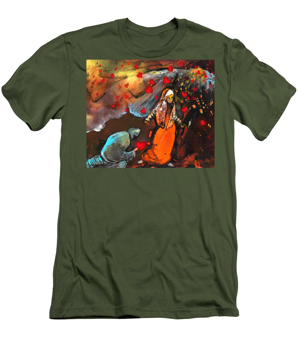 Valentine Men's T-Shirt (Athletic Fit) featuring the painting The Knight Of Your Heart by Miki De Goodaboom