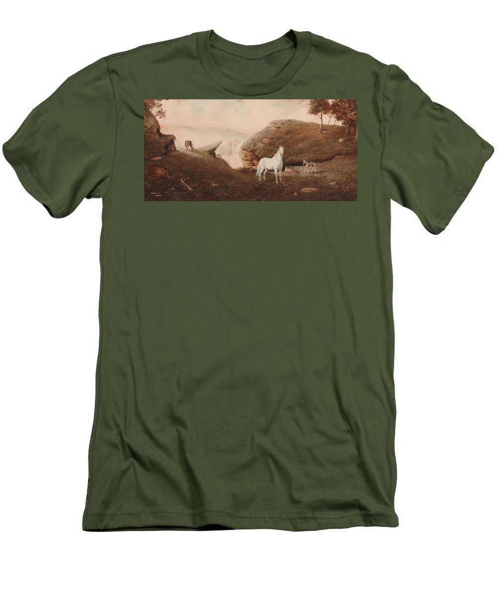 Horse Men's T-Shirt (Athletic Fit) featuring the painting The Patriarch by Duane R Probus