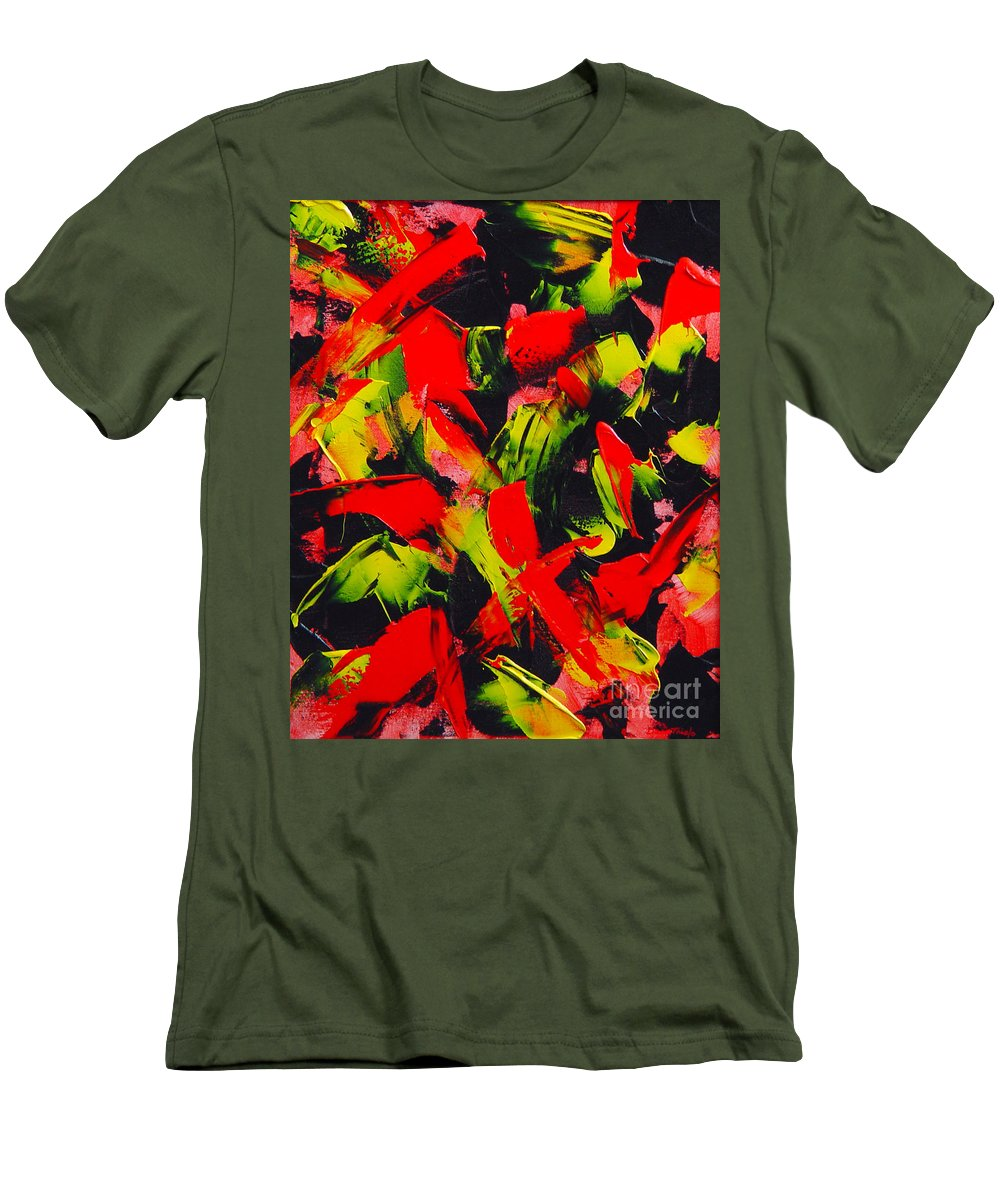 Abstract Men's T-Shirt (Athletic Fit) featuring the painting Transitions IIi by Dean Triolo