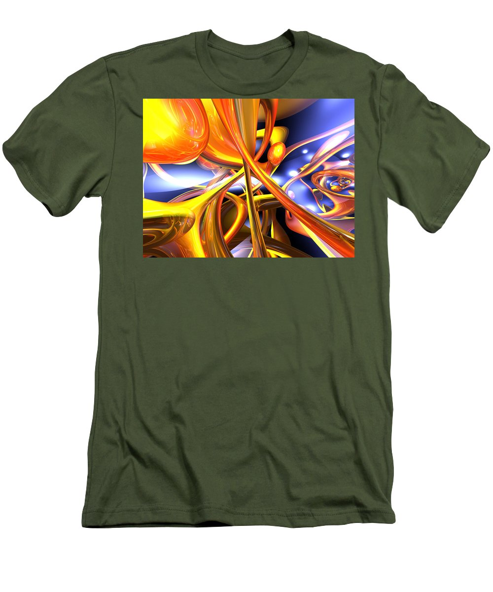 3d Men's T-Shirt (Athletic Fit) featuring the digital art Vibrant Love Abstract by Alexander Butler