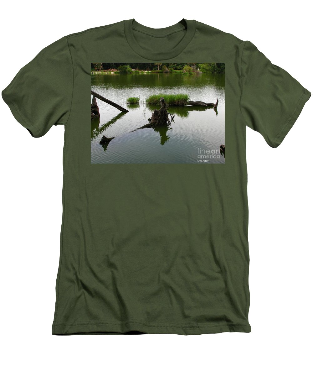 Art For The Wall...patzer Photography Men's T-Shirt (Athletic Fit) featuring the photograph Water Art by Greg Patzer