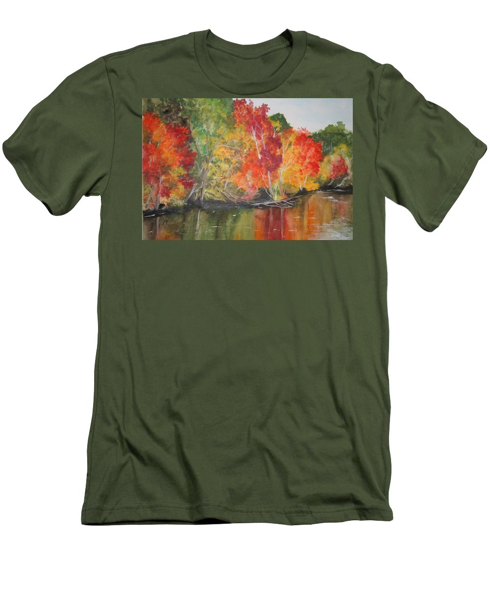Autumn Men's T-Shirt (Athletic Fit) featuring the painting Autumn Splendor by Jean Blackmer