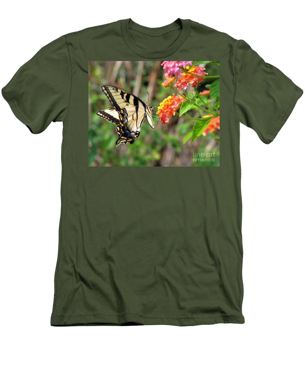 Butterfly Men's T-Shirt (Athletic Fit) featuring the photograph Butterfly by Amanda Barcon
