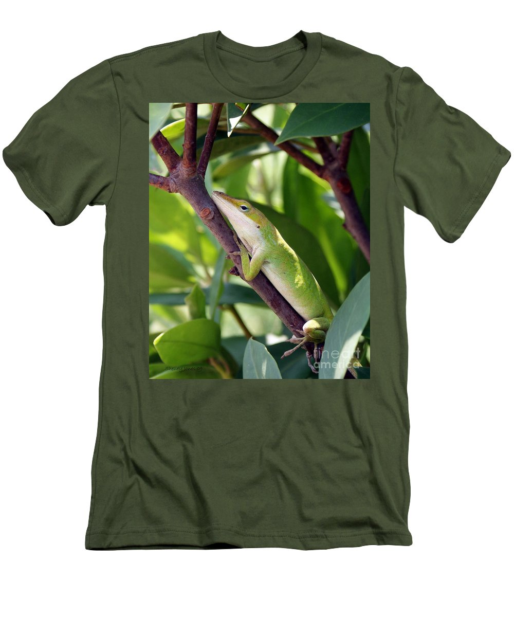 Photography Men's T-Shirt (Athletic Fit) featuring the photograph Hanging On by Shelley Jones
