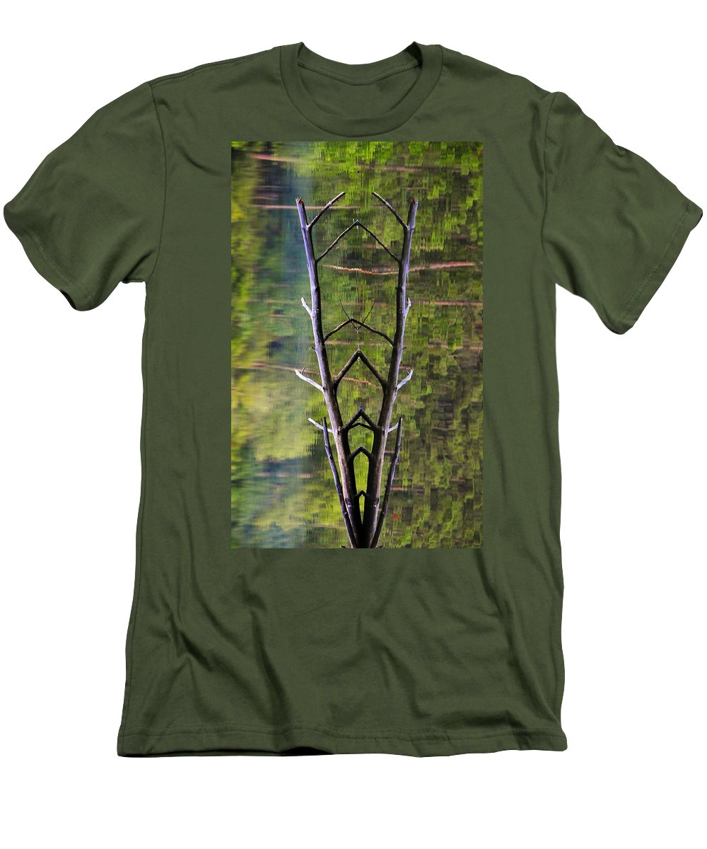 Photography Men's T-Shirt (Athletic Fit) featuring the photograph Jacob's Ladder by Skip Hunt