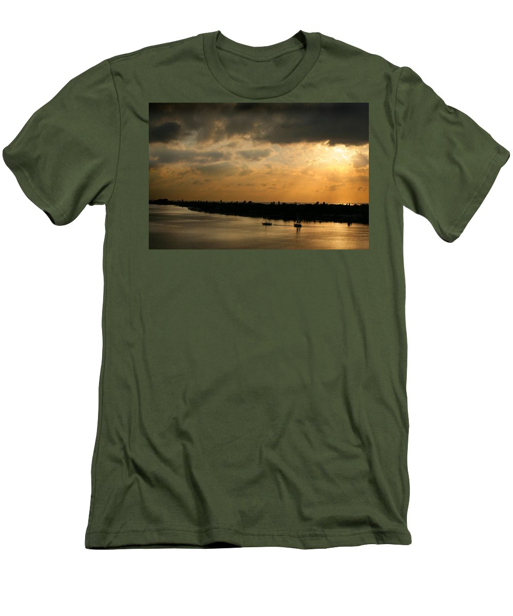 Photograph Men's T-Shirt (Athletic Fit) featuring the photograph Sunset At Pass A Grille Florida by Mal Bray