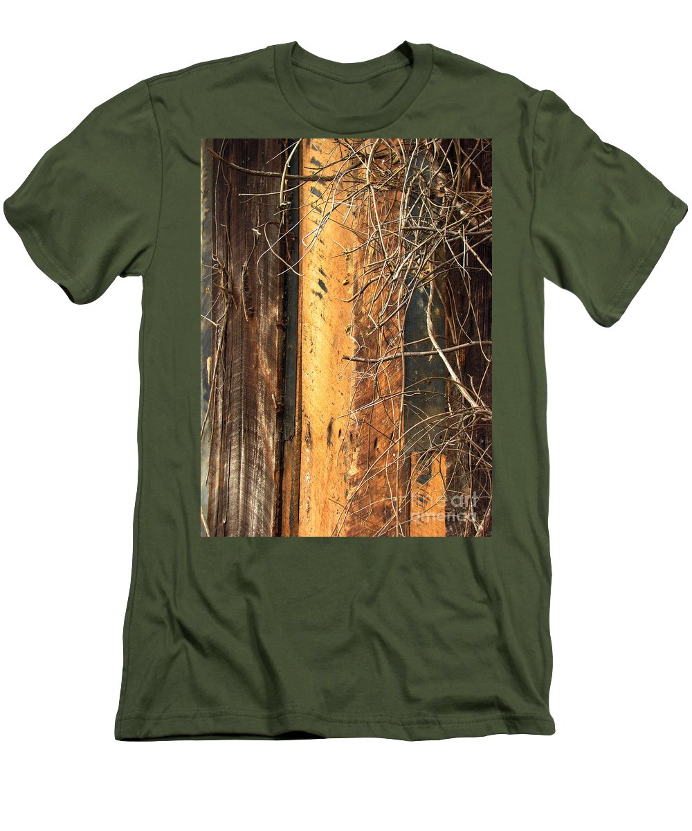 Texture Men's T-Shirt (Athletic Fit) featuring the photograph Texture Series by Amanda Barcon