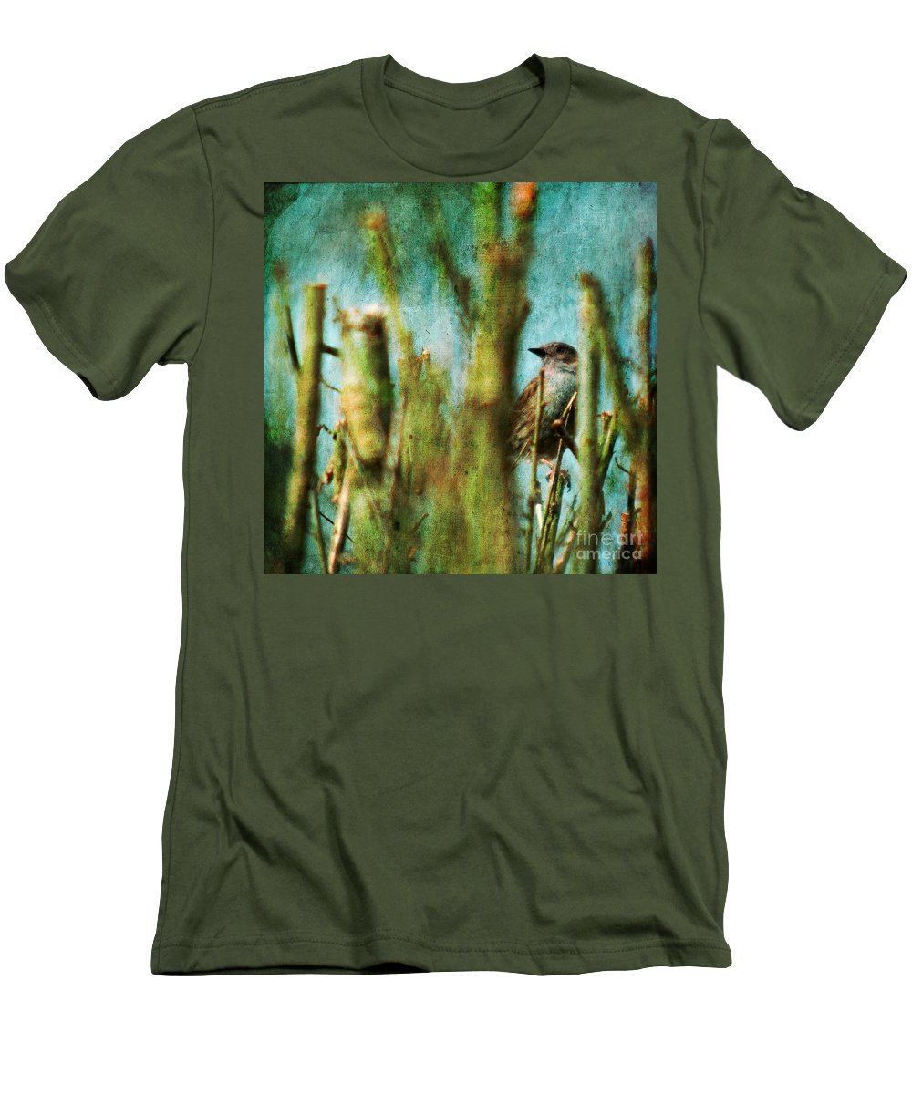 Thrush Men's T-Shirt (Athletic Fit) featuring the photograph The Thrush by Angel Ciesniarska