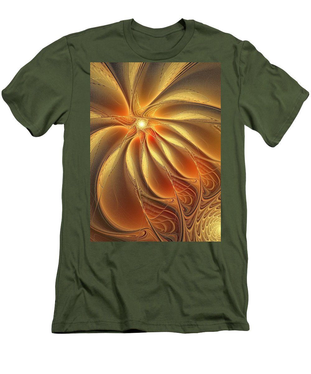 Digital Art Men's T-Shirt (Athletic Fit) featuring the digital art Warm Feelings by Amanda Moore