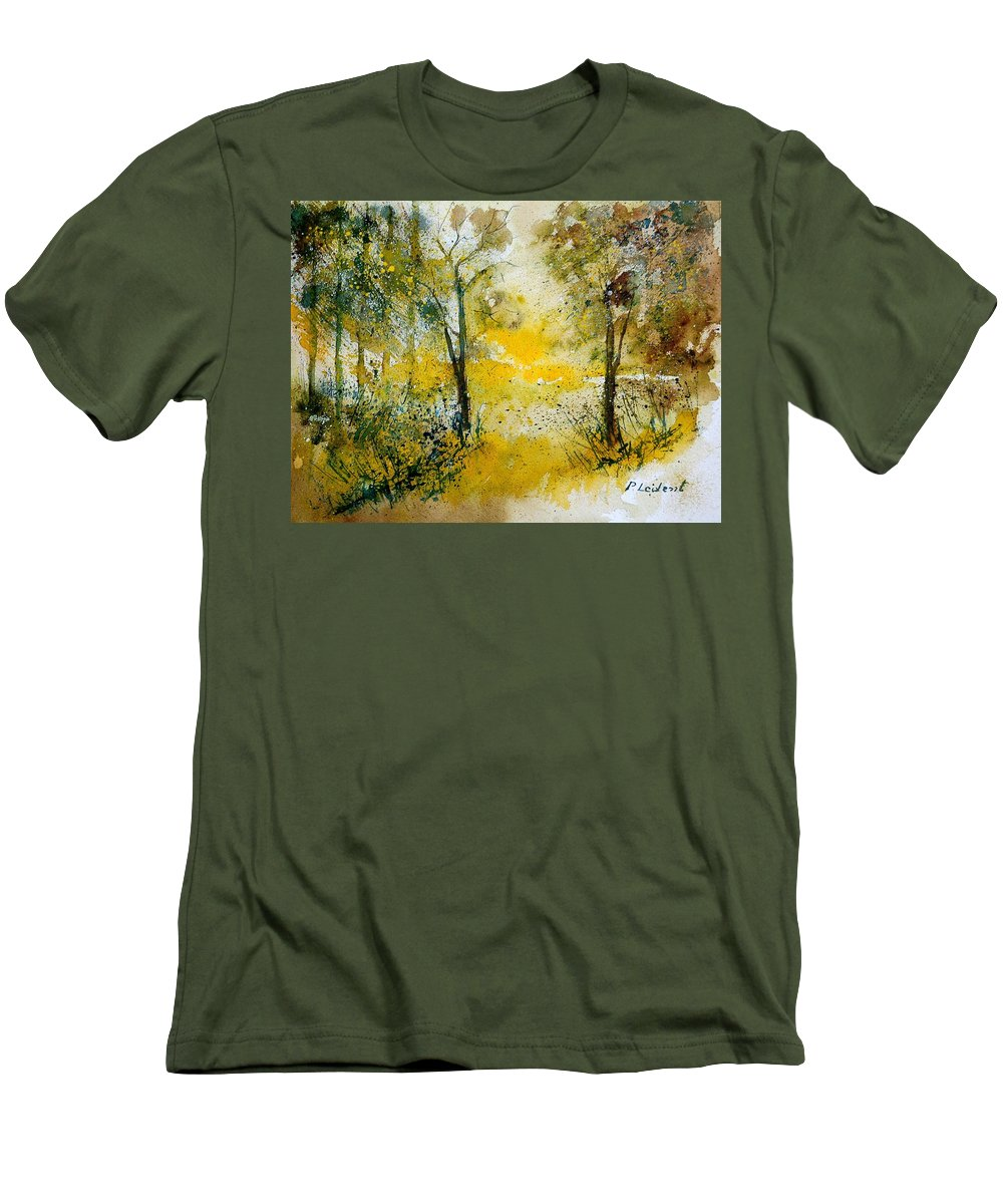 Tree Men's T-Shirt (Athletic Fit) featuring the painting Watercolor 210108 by Pol Ledent
