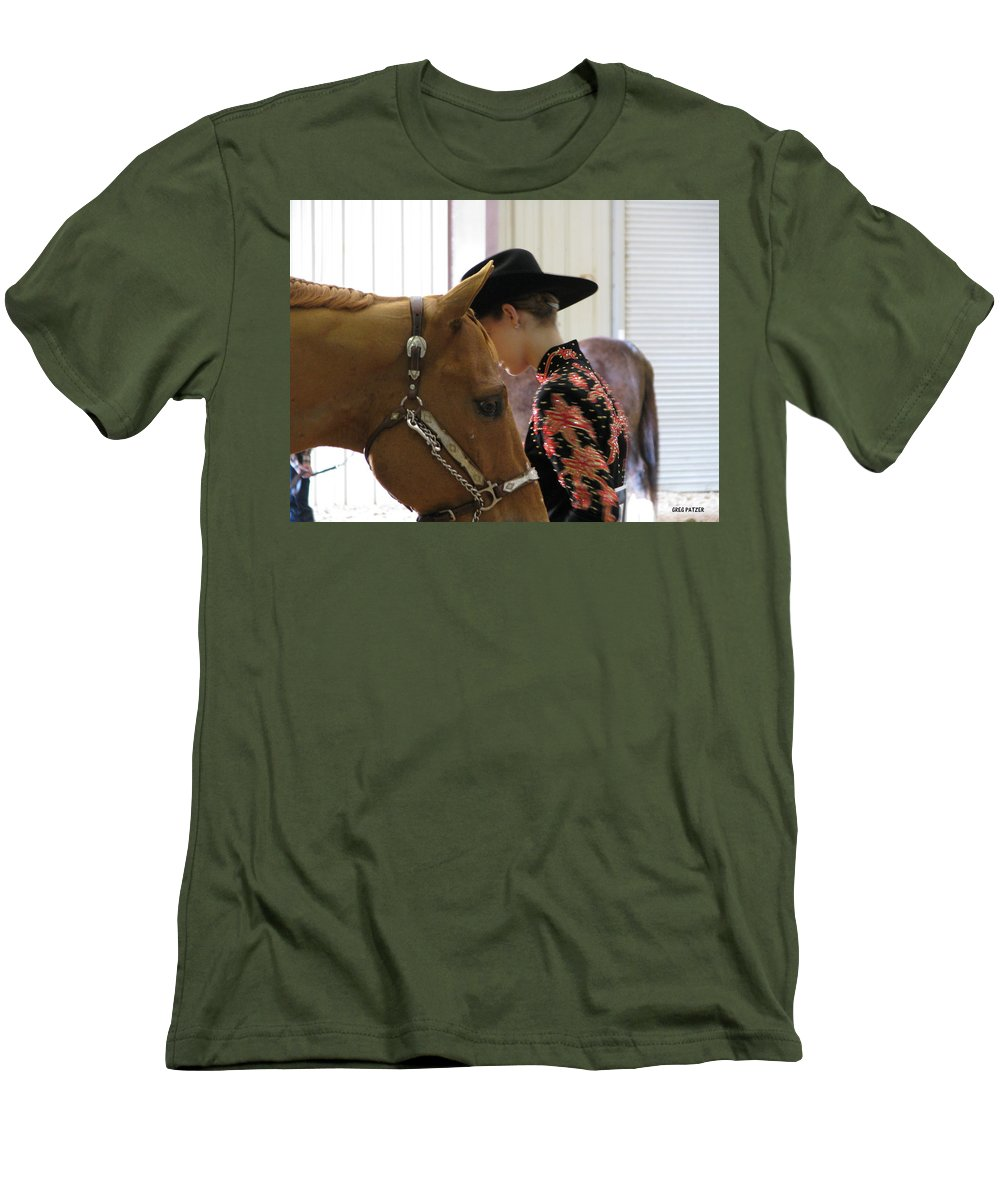 Patzer Men's T-Shirt (Athletic Fit) featuring the photograph You Pray I Pray by Greg Patzer