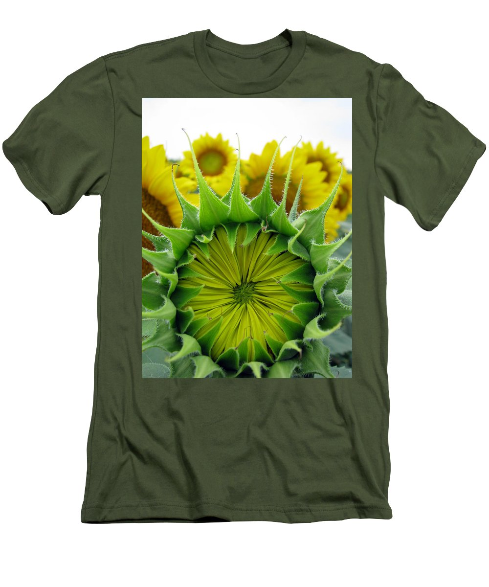 Sunflwoers Men's T-Shirt (Athletic Fit) featuring the photograph Sunflower Series by Amanda Barcon