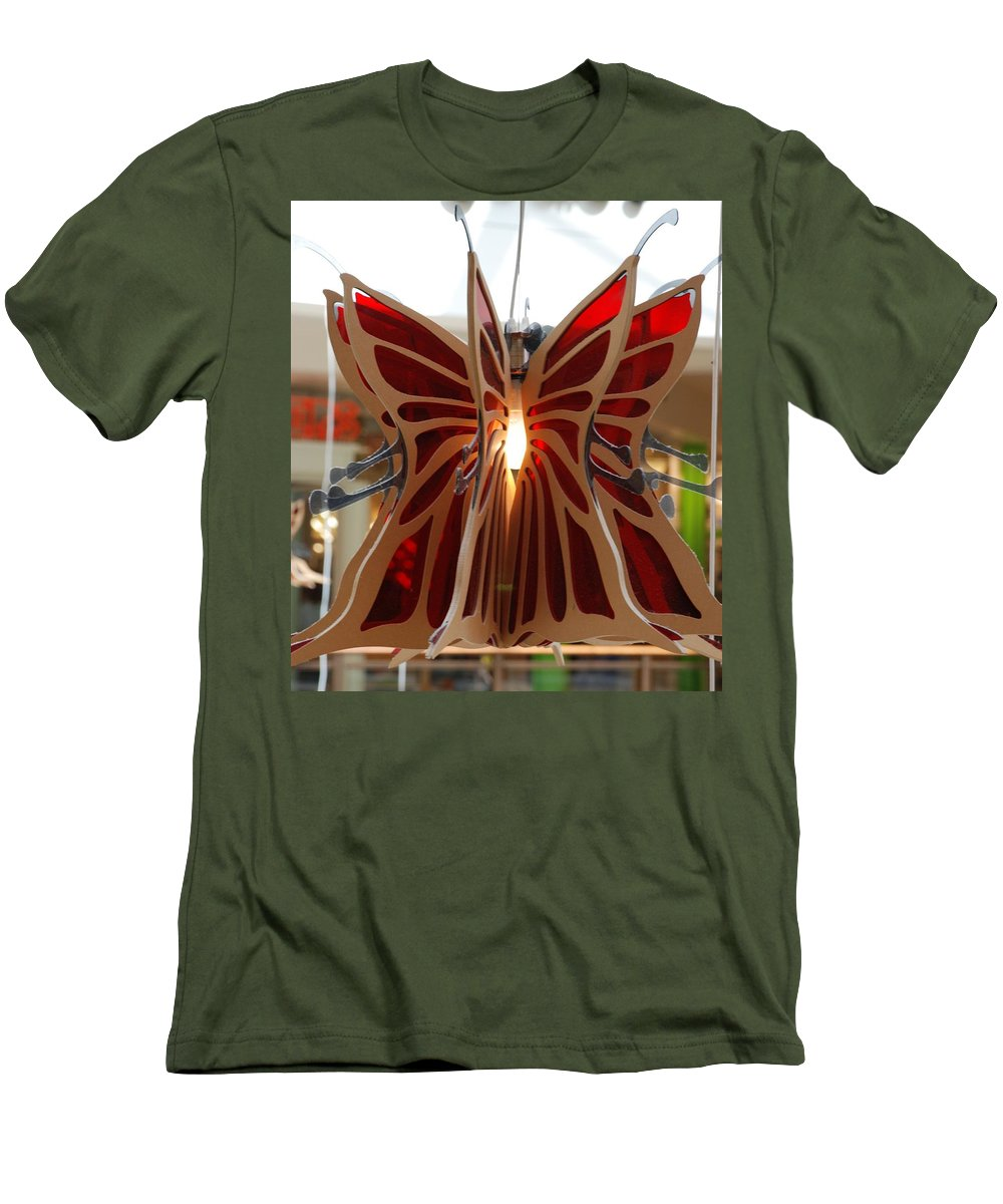Butterfly Men's T-Shirt (Athletic Fit) featuring the photograph Hanging Butterfly by Rob Hans
