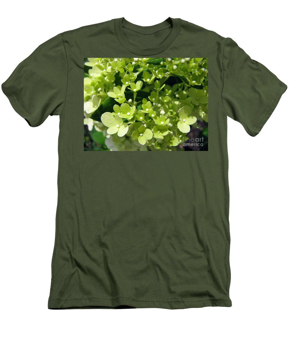 Hydrangea Men's T-Shirt (Athletic Fit) featuring the photograph Hydrangea by Amanda Barcon