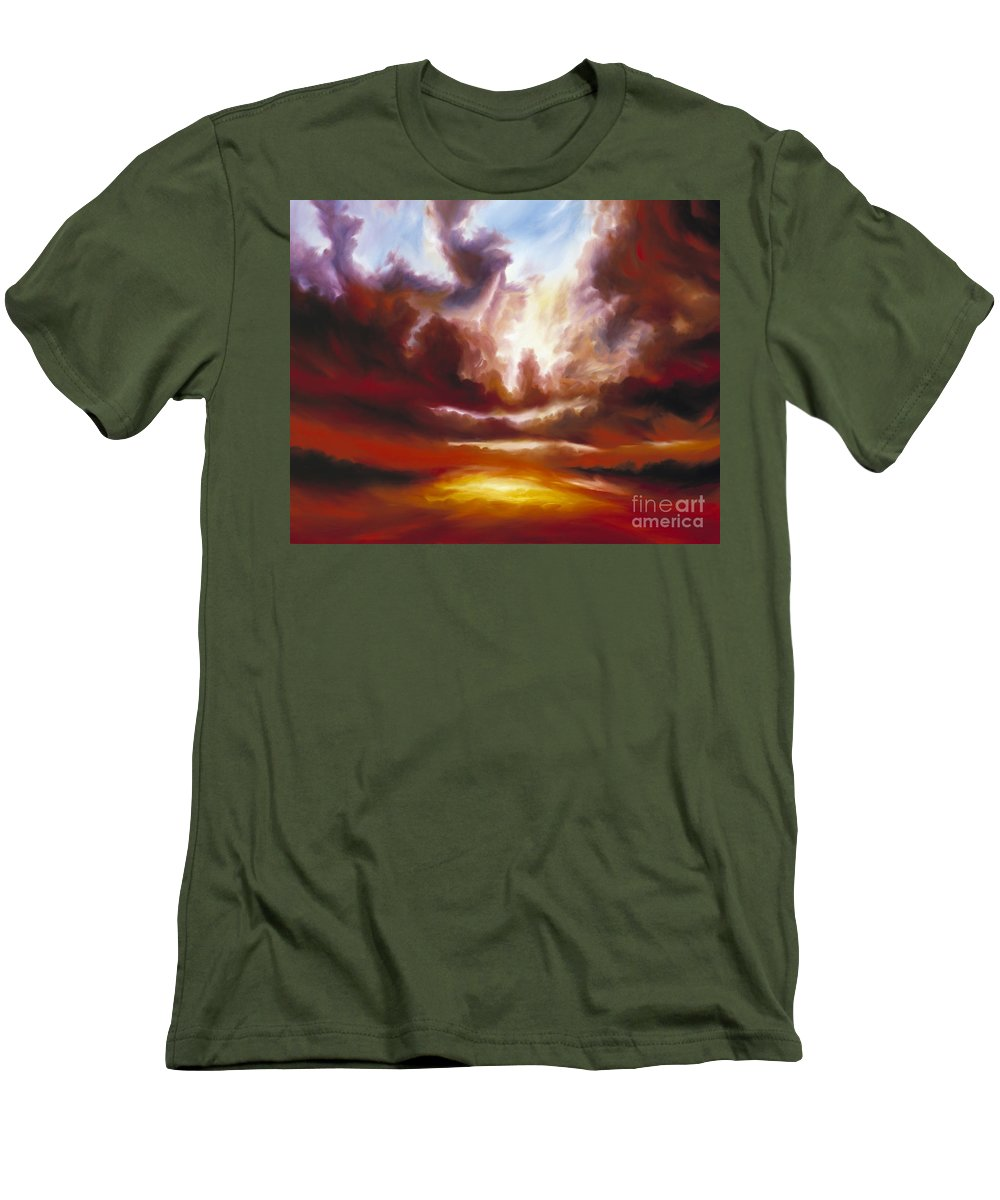 Tempest Men's T-Shirt (Athletic Fit) featuring the painting A Cosmic Storm - Genesis V by James Christopher Hill