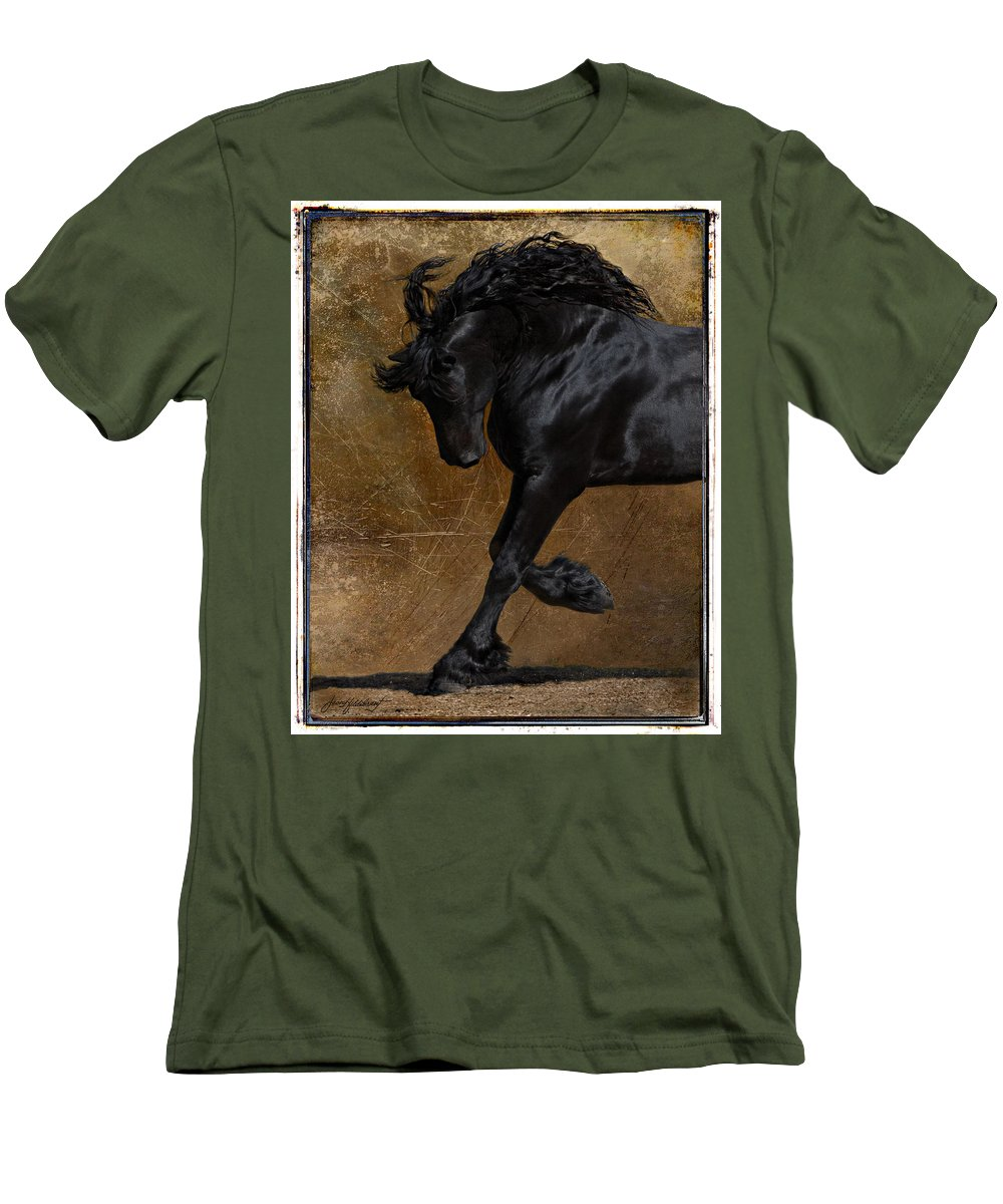 Horse Men's T-Shirt (Athletic Fit) featuring the photograph A Regal Bow by Jean Hildebrant