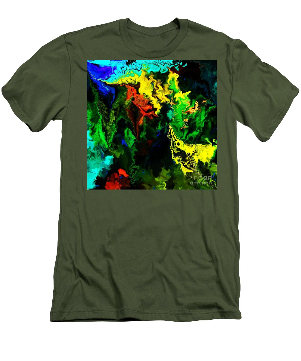 Abstract Men's T-Shirt (Athletic Fit) featuring the digital art Abstract 2-23-09 by David Lane