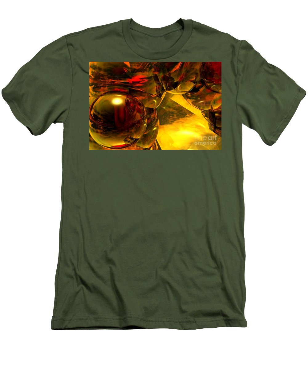 Abstract Men's T-Shirt (Athletic Fit) featuring the digital art Abstract 5-21-09 by David Lane