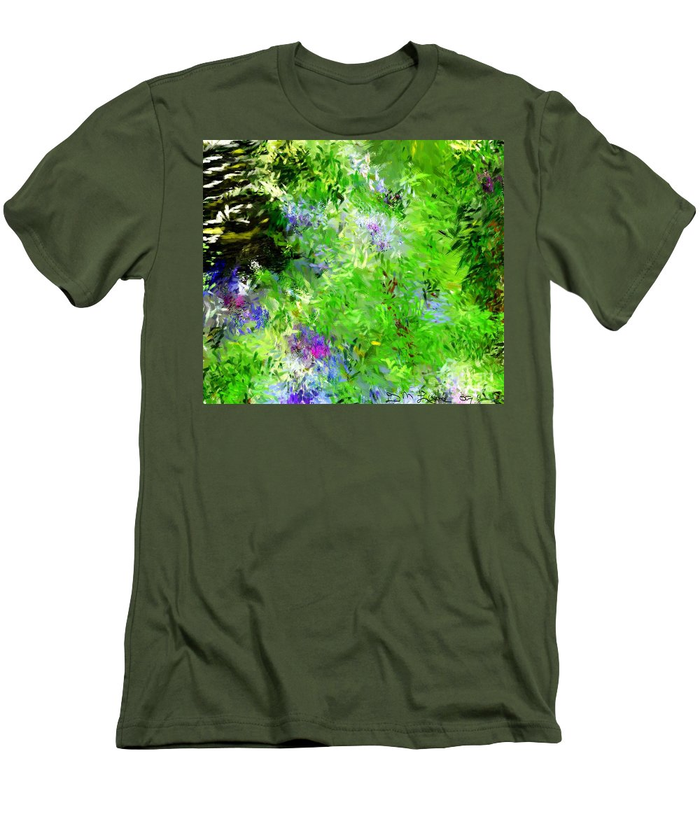 Abstract Men's T-Shirt (Athletic Fit) featuring the digital art Abstract 5-26-09 by David Lane