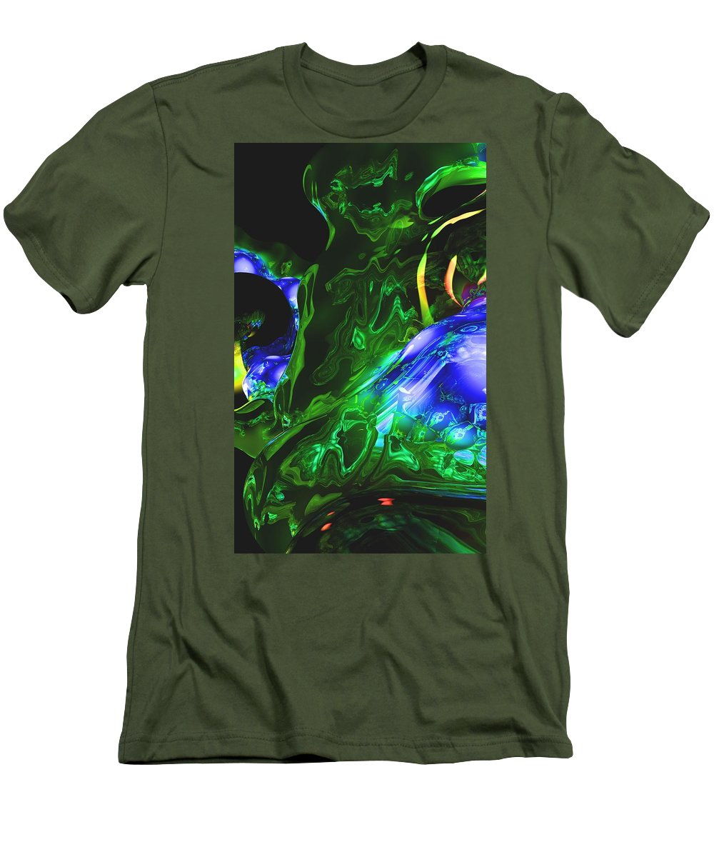 Abstract Men's T-Shirt (Athletic Fit) featuring the digital art Abstract 7-25-09-1 by David Lane
