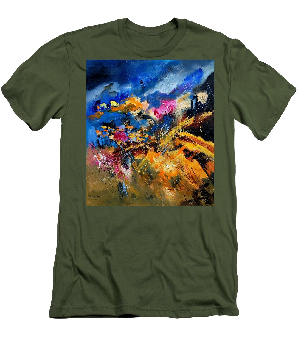 Abstract Men's T-Shirt (Athletic Fit) featuring the painting Abstract 7808082 by Pol Ledent