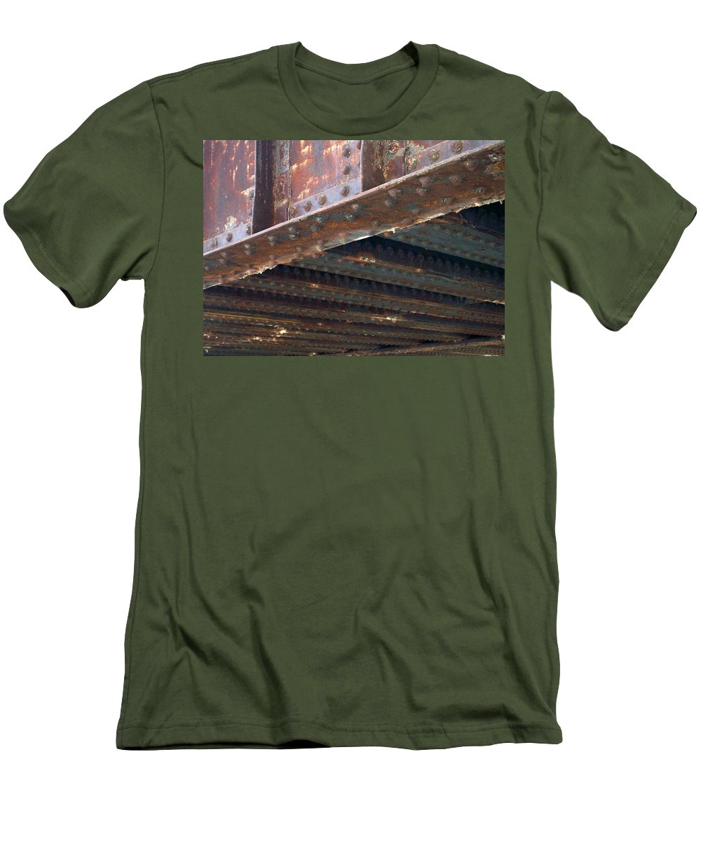 Urban Men's T-Shirt (Athletic Fit) featuring the photograph Abstract Rust 4 by Anita Burgermeister