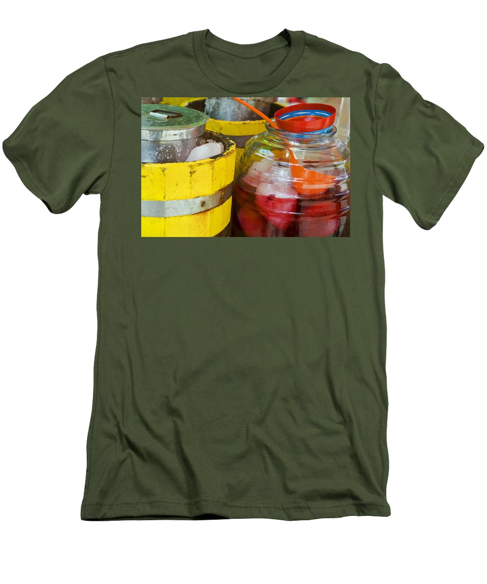 Beverage Men's T-Shirt (Athletic Fit) featuring the photograph Agua De Hamaica by Skip Hunt