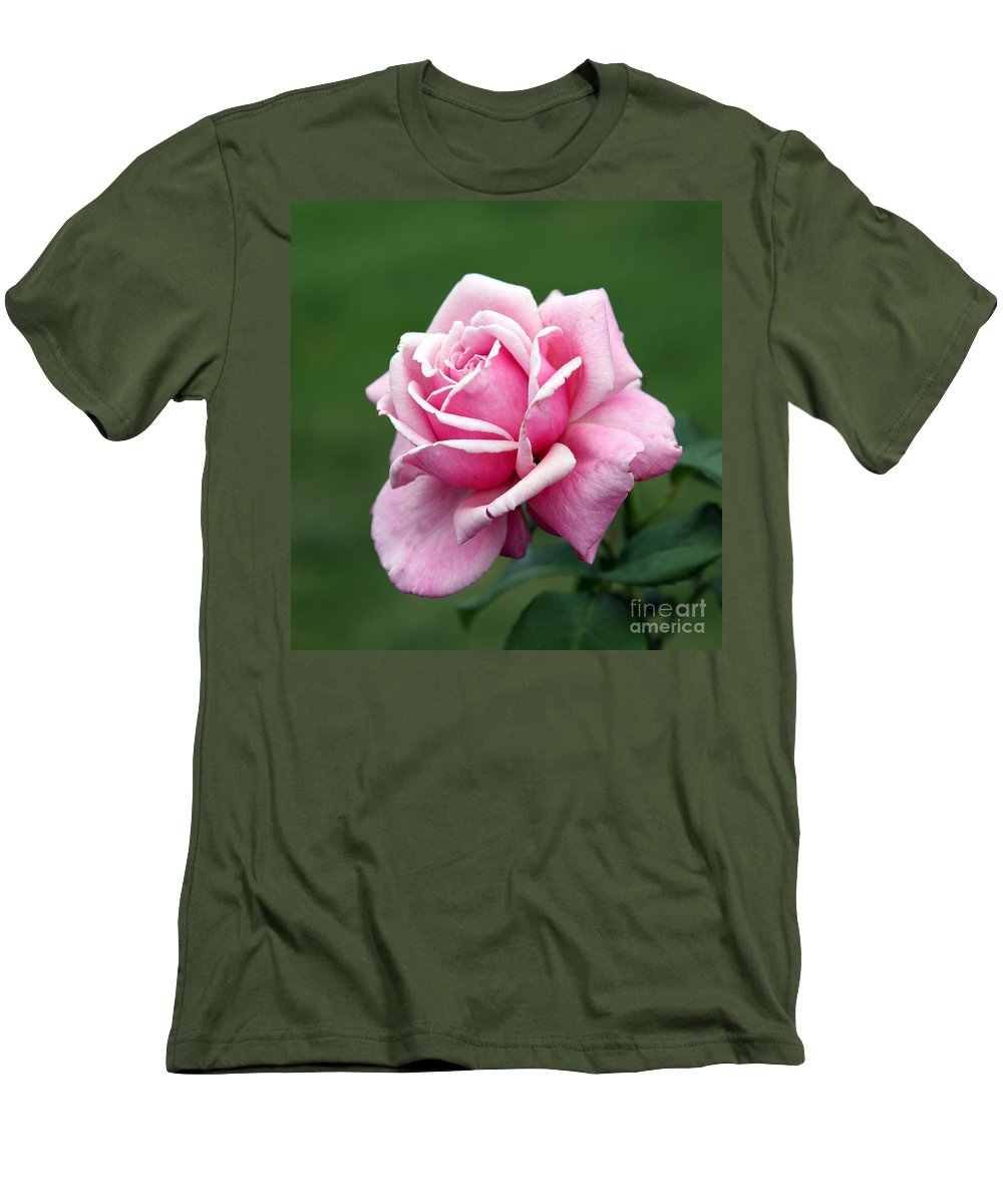 Rose Men's T-Shirt (Athletic Fit) featuring the photograph Alone Time by Amanda Barcon