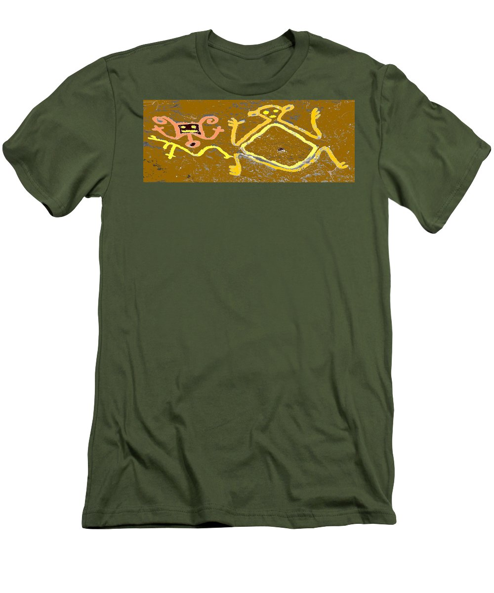 Native Men's T-Shirt (Athletic Fit) featuring the photograph Ancient Drawings by Ian MacDonald