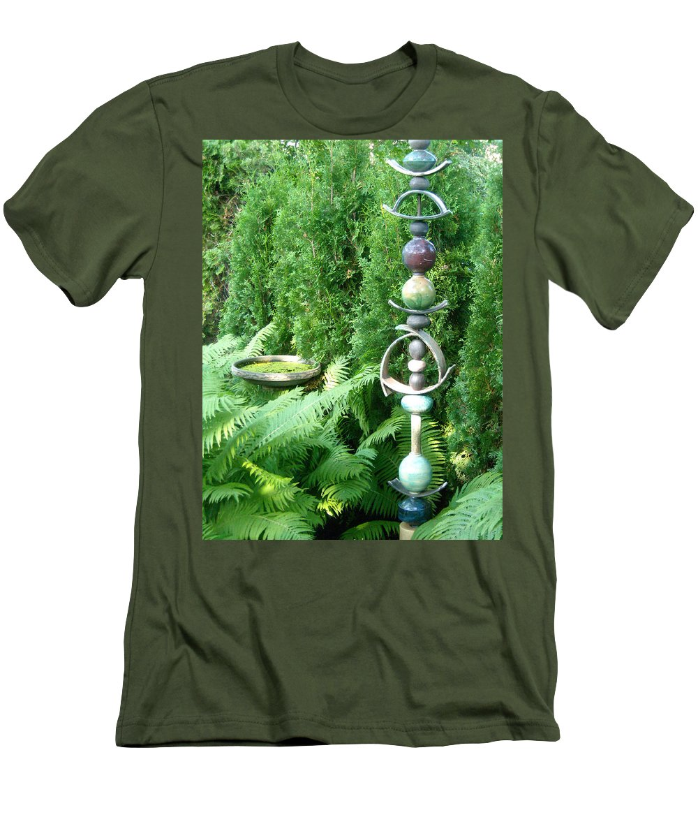 Sculpture Men's T-Shirt (Athletic Fit) featuring the photograph And Sculpture Garden by Line Gagne