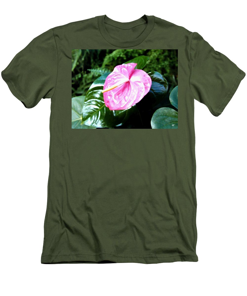 1986 Men's T-Shirt (Athletic Fit) featuring the digital art Anthurium by Will Borden