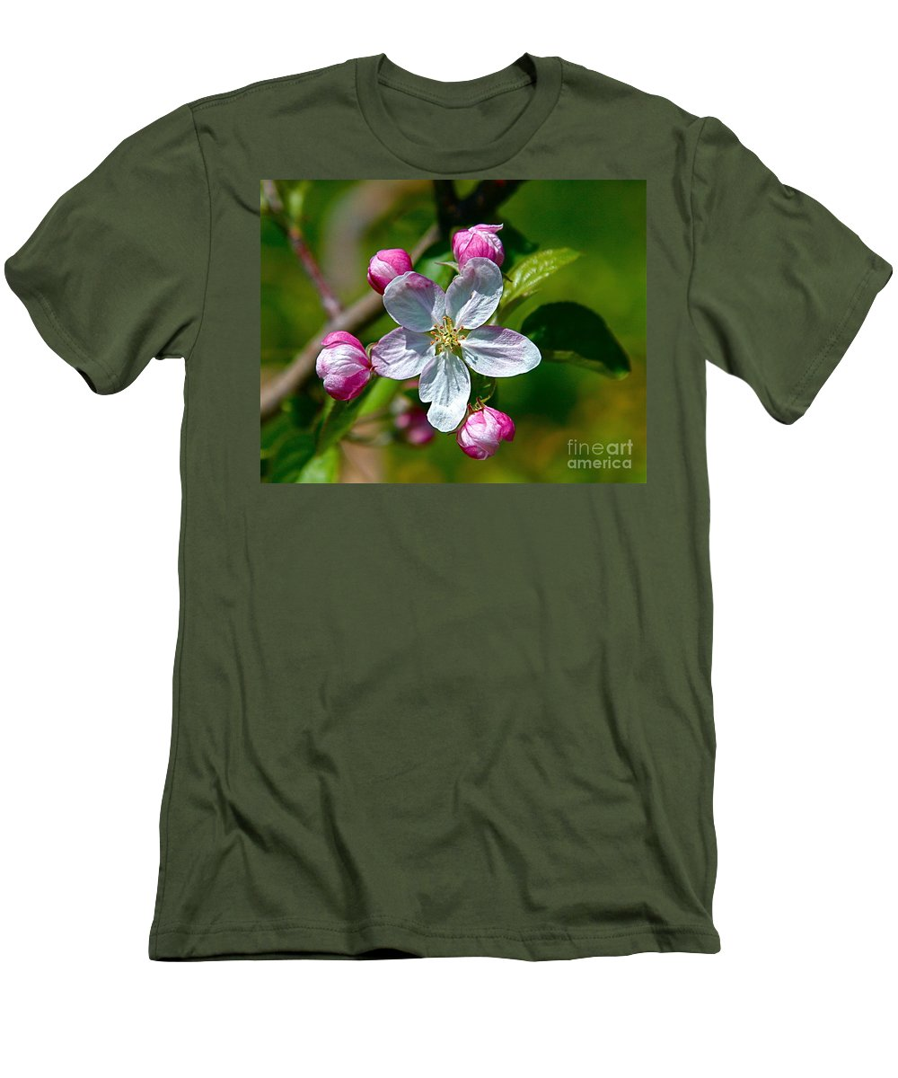 Flower Men's T-Shirt (Athletic Fit) featuring the photograph Apple Blossom by Robert Pearson