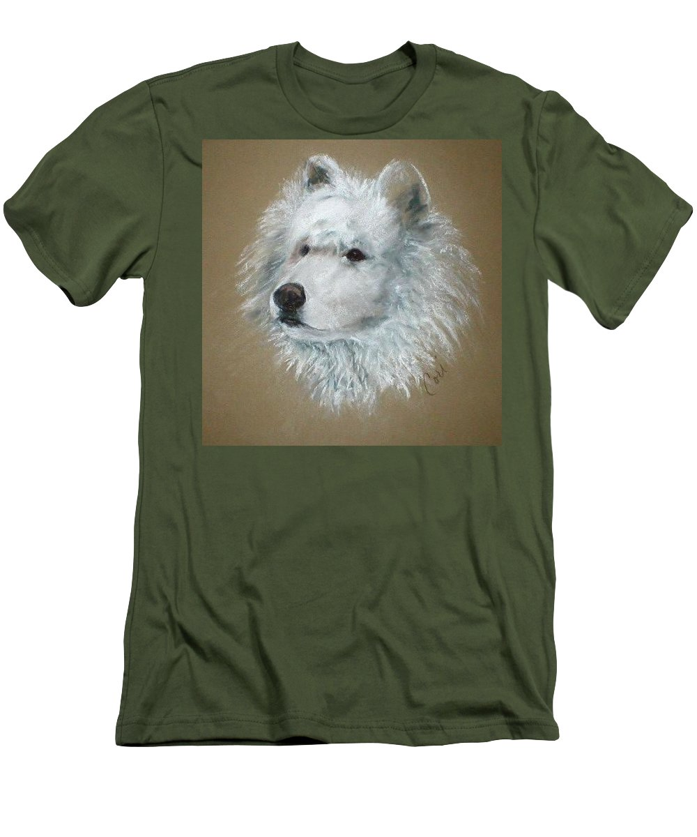 Pastel Men's T-Shirt (Athletic Fit) featuring the drawing Arctic Majestry by Cori Solomon