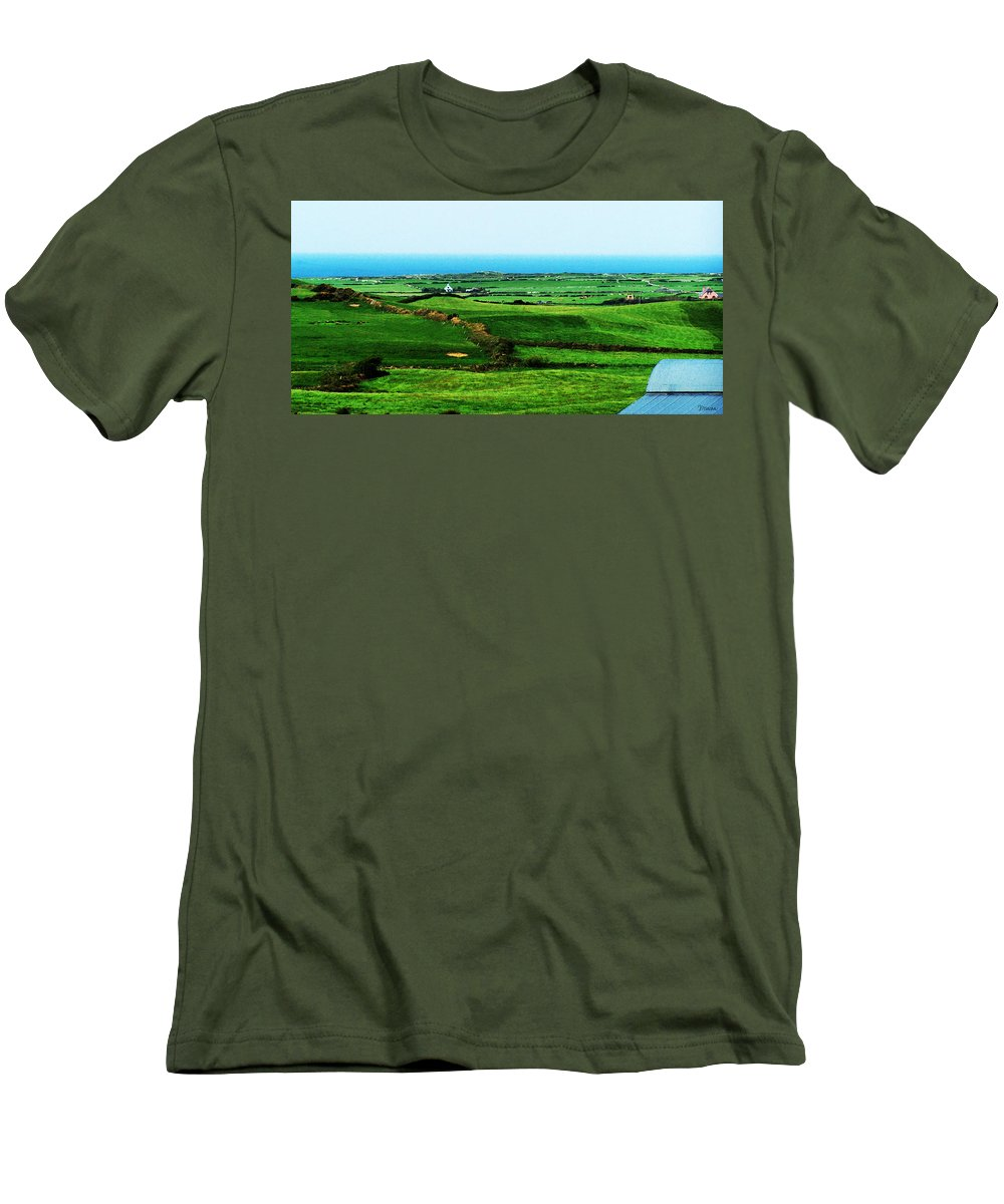 Ireland Men's T-Shirt (Athletic Fit) featuring the photograph Atlantic View Doolin Ireland by Teresa Mucha